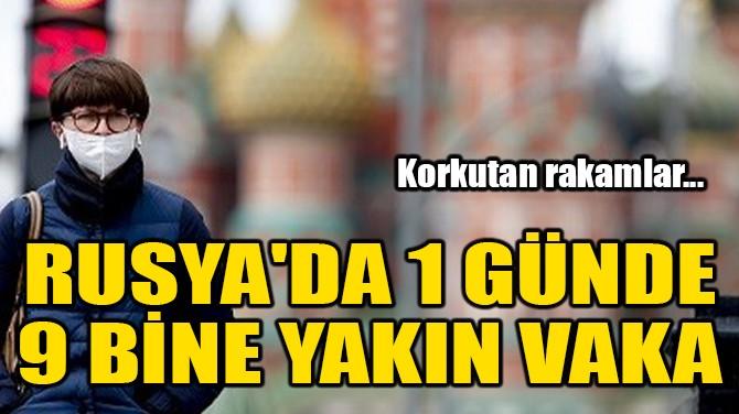 RUSYA'DA 1 GÜNDE 9 BİNE YAKIN VAKA!