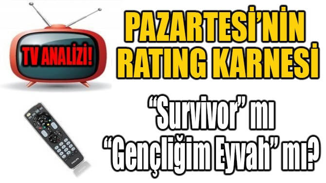 PAZARTESİ'NİN RATING KARNESİ!