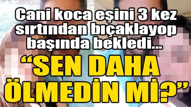 EŞİNİ 3 KEZ SIRTINDAN BIÇAKLADI! 'SEN DAHA ÖLMEDİN Mİ?'