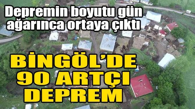 BİNGÖL'DE  90 ARTÇI DEPREM MEYDANA GELDİ...