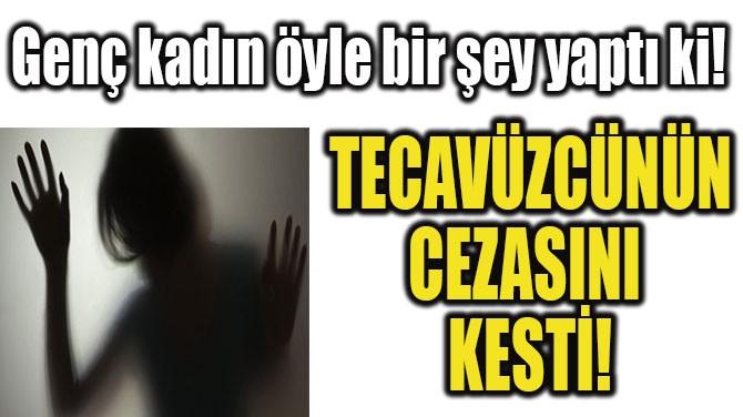 TECAVÜZCÜNÜN CEZASINI KESTİ!