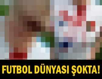 OLAY!.. TARAFTAR SAHAYA GİRİP FUTBOLCUNUN BOĞAZINI KESTİ!..