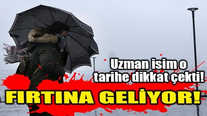 FIRTINA GELİYOR!