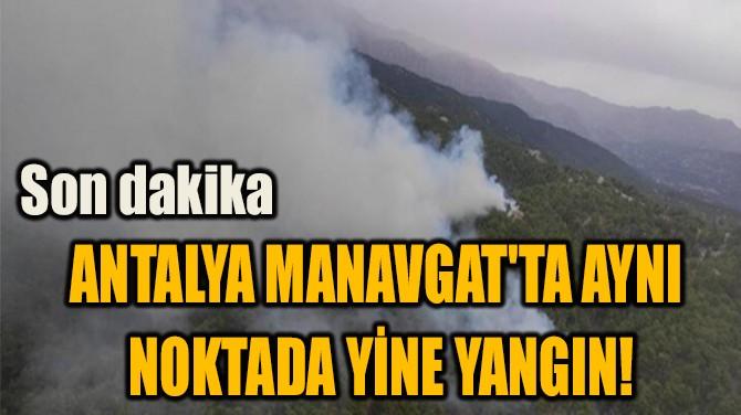 ANTALYA MANAVGAT'TA AYNI  NOKTADA YİNE YANGIN!