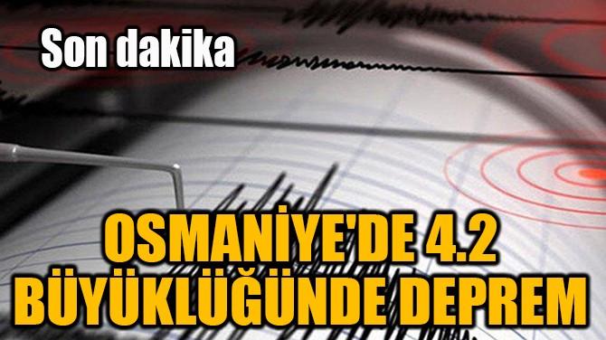 OSMANİYE'DE 4,2 BÜYÜKLÜĞÜNDE DEPREM