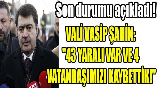 ANKARA'DAKİ TREN  KAZASIYLA İLGİLİ VALİLİK'TEN AÇIKLAMA!