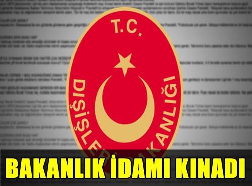 DIŞİŞLERİ BAKANLIĞI MURSİ'YE VERİLEN İDAM CEZASINI KINADI!..