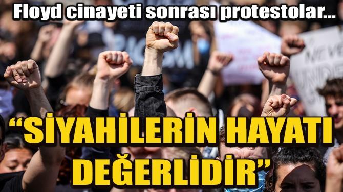 ALMANYA'DA IRKÇILIK KARŞITI PROTESTOYA BİNLERCE KİŞİ KATILDI