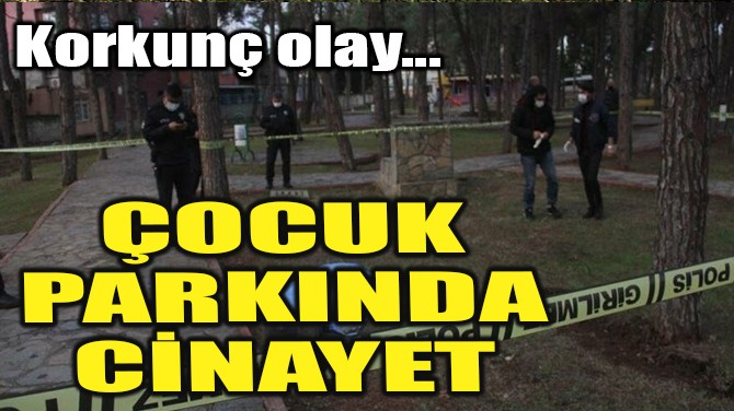 ÇOCUK PARKINDA CİNAYET