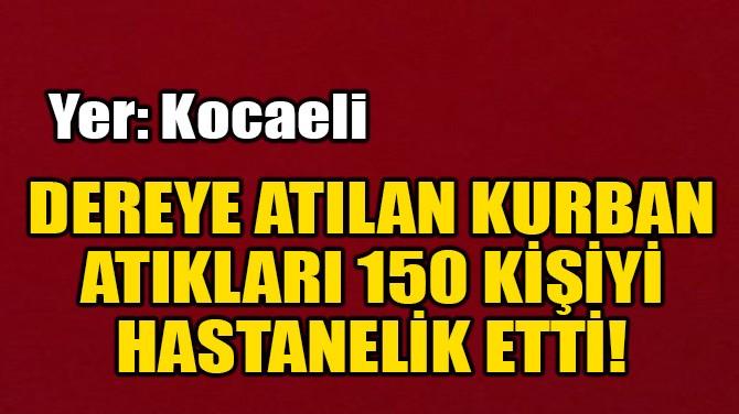 DEREYE ATILAN KURBAN ATIKLARI 150 KİŞİYİ HASTANELİK ETTİ!