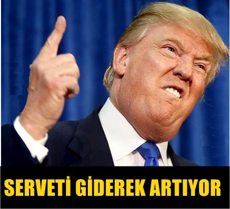 İŞ ADAMI DONALD TRUMP'IN SERVETİ DUDAK UÇUKLATTI!...