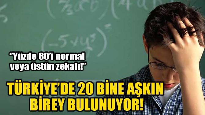 TÜRKİYE'DE 20 BİNE AŞKIN BİREY BULUNUYOR!