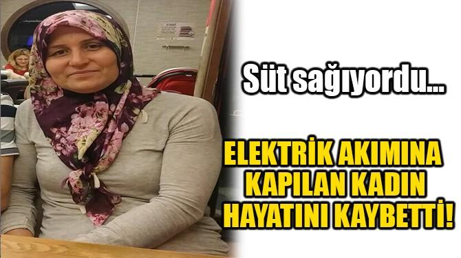 ELEKTRİK AKIMNA KAPILAN KADIN HAYATINI KAYBETTİ!
