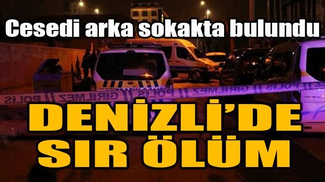 DENİZLİ'DE SIR ÖLÜM