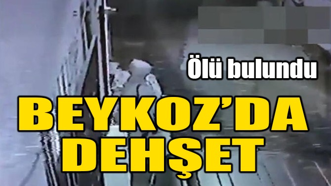 BEYKOZ'DA DEHŞET! ÖLÜ BULUNDU!