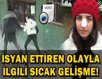 KADIKÖY'DE LİSELİ KIZA YUMRUK ATAN SALDIRGAN YENİDEN GÖZALTINDA!