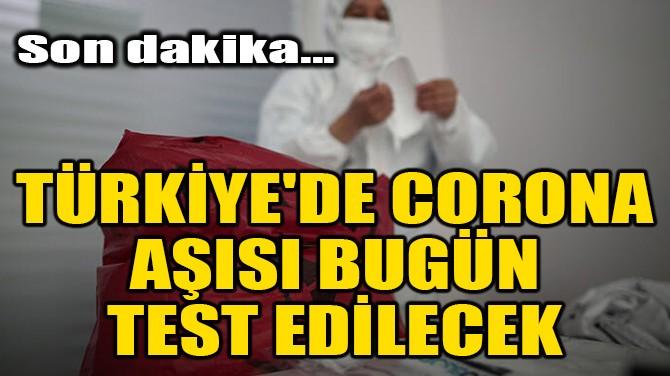TÜRKİYE'DE CORONAVİRÜS AŞISI BUGÜN TEST EDİLECEK