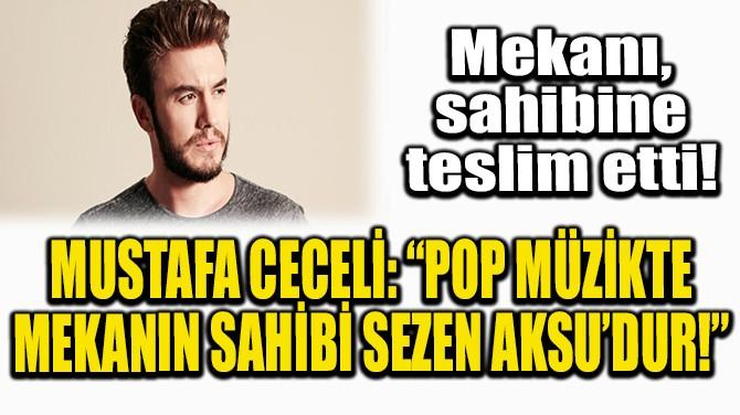 """MUSTAFA CECELİ: """"POP MÜZİKTE MEKANIN SAHİBİ SEZEN AKSU'DUR!"""""""