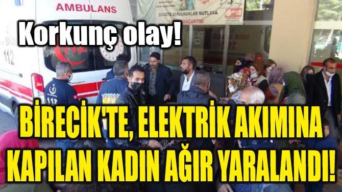 BİRECİK'TE, ELEKTRİK AKIMINA KAPILAN KADIN AĞIR YARALANDI!