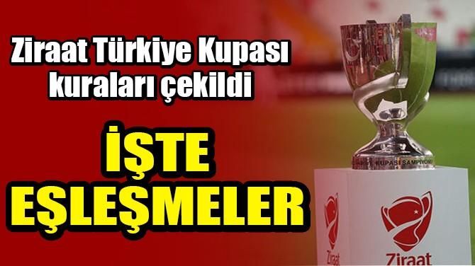 ZİRAAT TÜRKİYE KUPASI'NDA KURALAR ÇEKİLDİ!