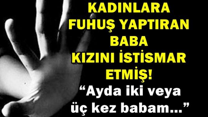 KADINLARA FUHUŞ YAPTIRAN BABA KIZINI İSTİSMAR  ETMİŞ!