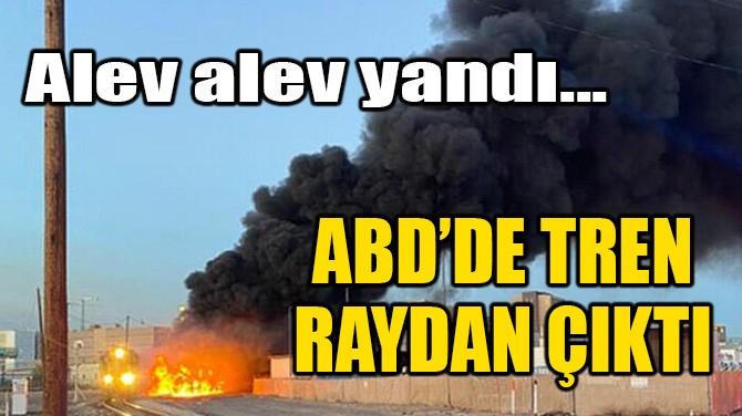 ABD'DE TREN RAYDAN ÇIKTI... ALEV ALEV YANDI!