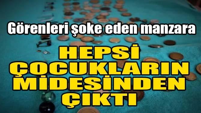 HEPSİ ÇOCUKLARIN MİDESİNDEN ÇIKTI!
