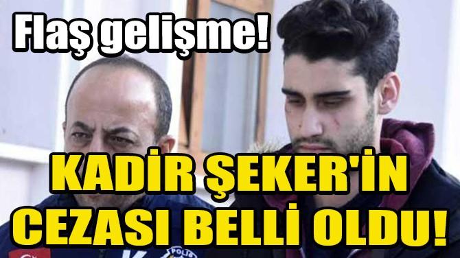 KADİR ŞEKER'İN CEZASI BELLİ OLDU!