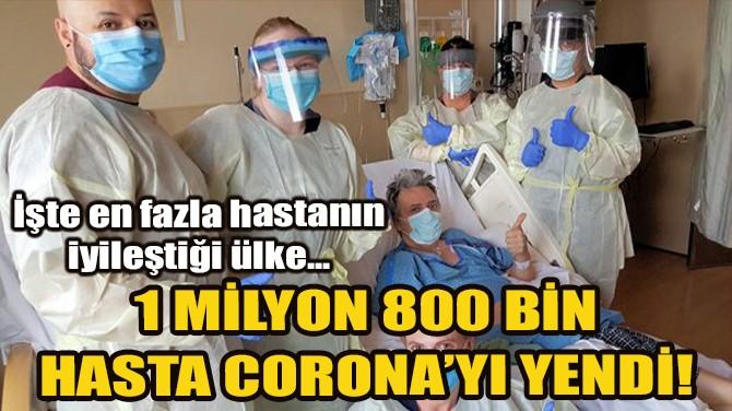 DÜNYA GENELİNDE İYİLEŞEN SAYISI 1 MİLYON 800 BİNİ AŞTI!