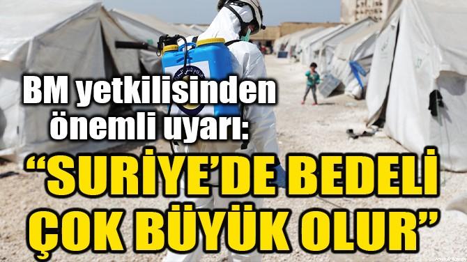 """BM TEMSİLCİSİNDEN ÖNEMLİ UYARI: """"SURİTYE'DE BEDELİ BÜYÜK OLUR"""""""
