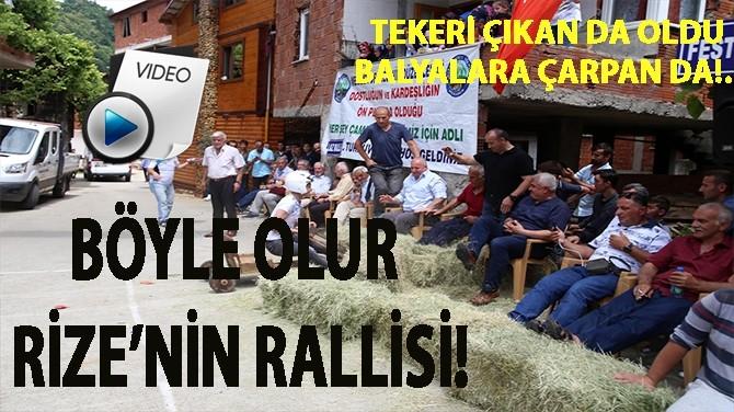LAZ RALLİ'Sİ NEFES KESTİ!