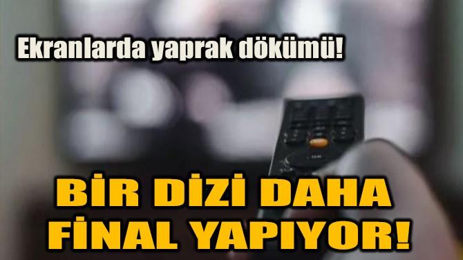 BİR DİZİ DAHA FİNAL YAPIYOR!
