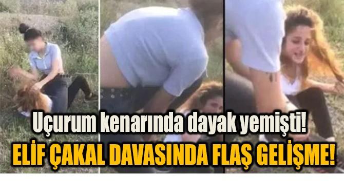 ELİF ÇAKAL DAVASINDA FLAŞ GELİŞME!