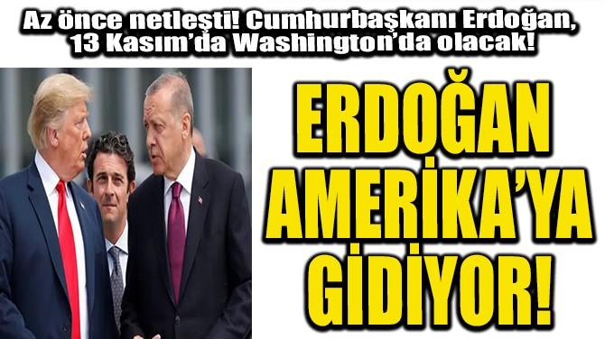 ERDOĞAN ABD'YE GİDİYOR!
