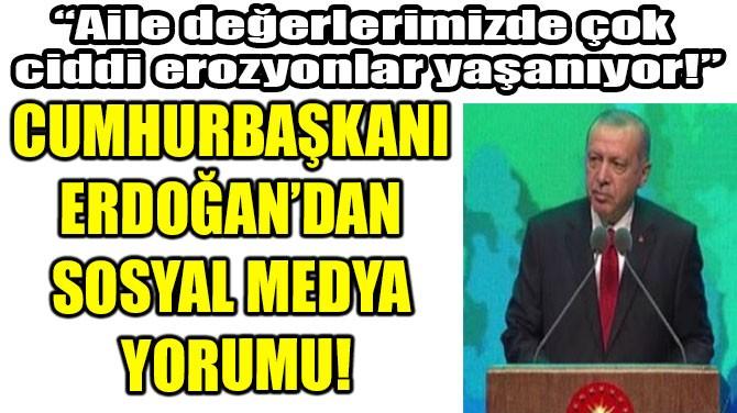CUMHURBAŞKANI ERDOĞAN'DAN SOSYAL MEDYA YORUMU!