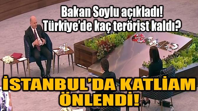İSTANBUL'DA KATLİAM ÖNLENDİ!