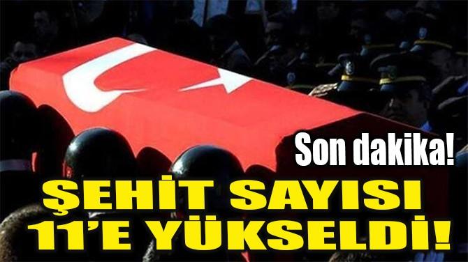 ŞEHİT SAYISI 11'E YÜKSELDİ!
