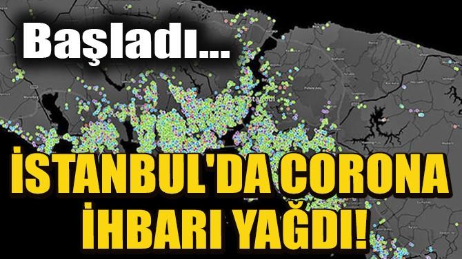 İSTANBUL'DA CORONA İHBARI YAĞDI!