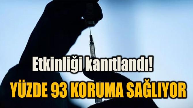 ETKİNLİĞİ KANITLANDI! YÜZDE 93 KORUMA SAĞLIYOR