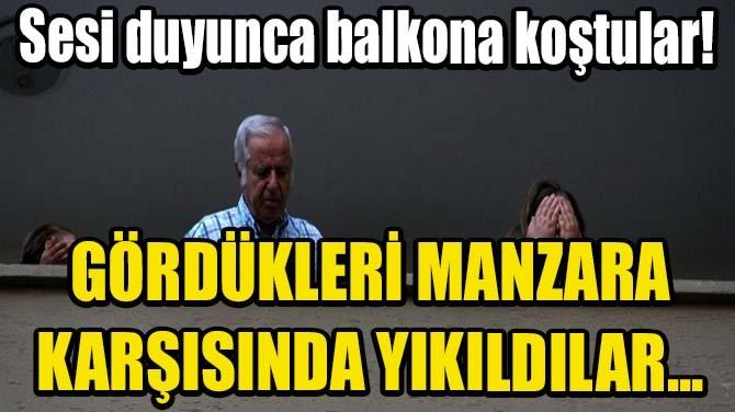 SESİ DUYUNCA BALKONA KOŞTULAR!