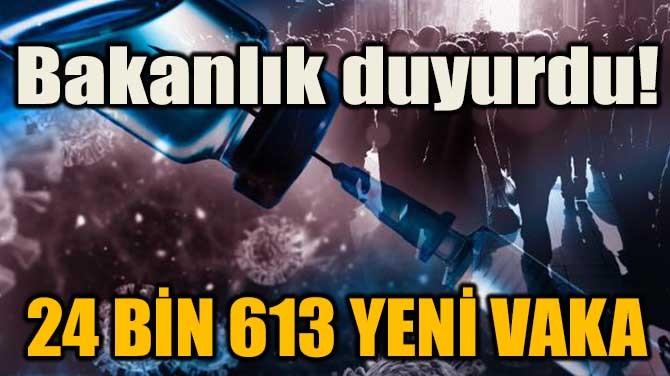 BAKANLIK DUYURDU! 24 BİN 613 YENİ VAKA