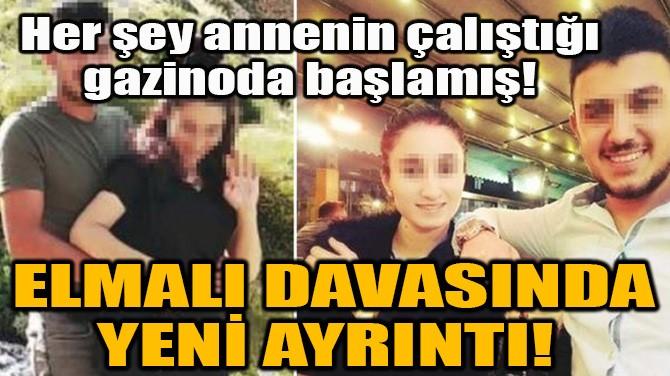 ELMALI DAVASINDA YENİ AYRINTI!