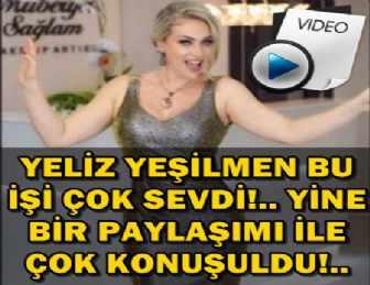 YELİZ YEŞİLMEN'DEN KAYINVALİDESİNE GÖBEK ŞOV!..