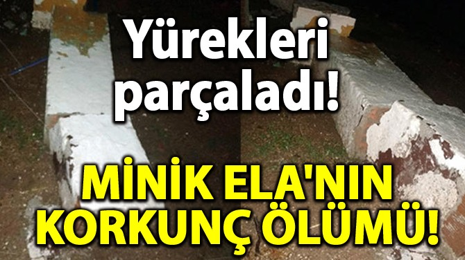 MİNİK ELA'NIN KORKUNÇ ÖLÜMÜ!