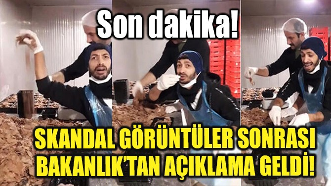 SKANDAL GÖRÜNTÜLER SONRASI  BAKANLIK'TAN AÇIKLAMA GELDİ!
