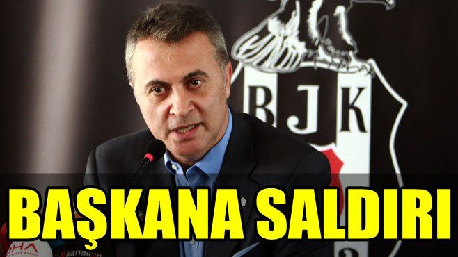 FLAŞ!.. BEŞİKTAŞ BAŞKANI FİKRET ORMAN'A TRİBÜNDE SALDIRI!..