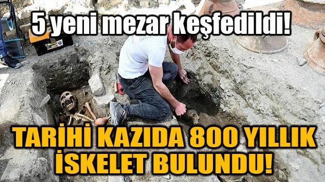 TARİHİ KAZIDA 800 YILLIK İSKELET BULUNDU!