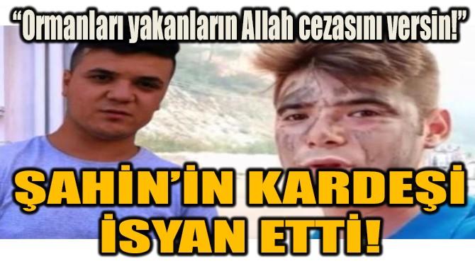 ŞAHİN'İN KARDEŞİ  İSYAN ETTİ!