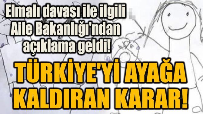 ELMALI DAVASI İLE İLGİLİ AİLE  BAKANLIĞI'NDAN AÇIKLAMA GELDİ!