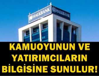 HALK BANKASI SOSYAL MEDYADAKİ DEDİKODULARA AÇIKLIK GETİRDİ!